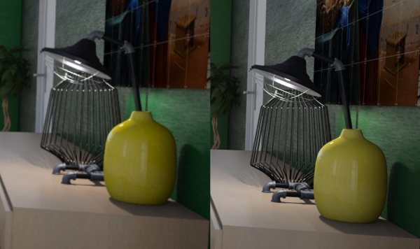 Left: SD Render | Right: HD render
